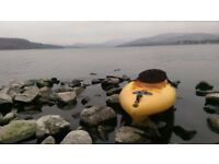 KAYAK WITH PADDLE, Canoe, sit on top for use FISHING or playing on sea, surf, rivers or lakes