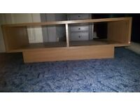 Oak effect tv stand perfect condition