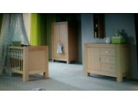 Kidsmill Kubus Oak Nursery Set includes Cot Bed, Wardrobe and Chest of Drawers