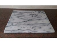 Large white marble copping board