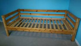 Wooden Child's High Bed