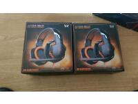 Gaming headset blue not orange