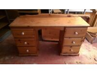 Wooden Desk with Six Draws