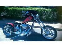 chopper built by care free custom california rigid beast revtech 110 cubic inch