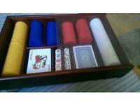 Poker set in box very good condition