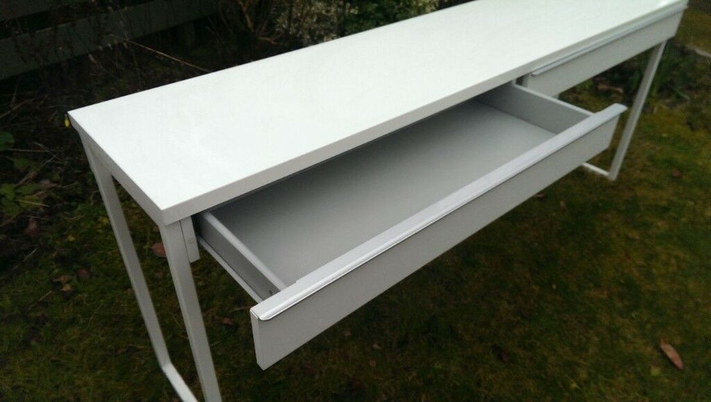 Ikea 1 6m Long White Desk Console Table Dressing Table