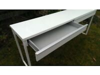 IKEA 1.6m LONG WHITE DESK / CONSOLE TABLE / DRESSING TABLE