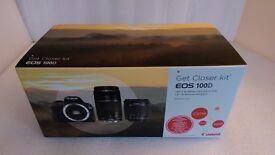 Canon EOS 100D Twin Lens Kit c/w EF-S 18-55mm f/3.5-5.6 IS STM and EF 75-300mm f/4-5.6 III Lenses