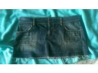 Topshop denim skirt size 14