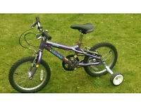 Dawes Blowfish 16 inch bike aluminium frame bike - suitable up to about 7yo.