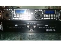 Twin CD Player With Controller And Twin MP3, USB Playe