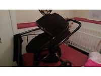 Black mothercare pram and pushchair £60