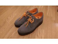 90% new Doctor Marten Shoes Gray and Yellow_Size 8UK