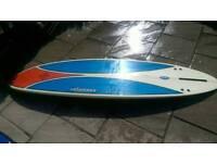 "7'2""Singlefin surfboard with board bag"