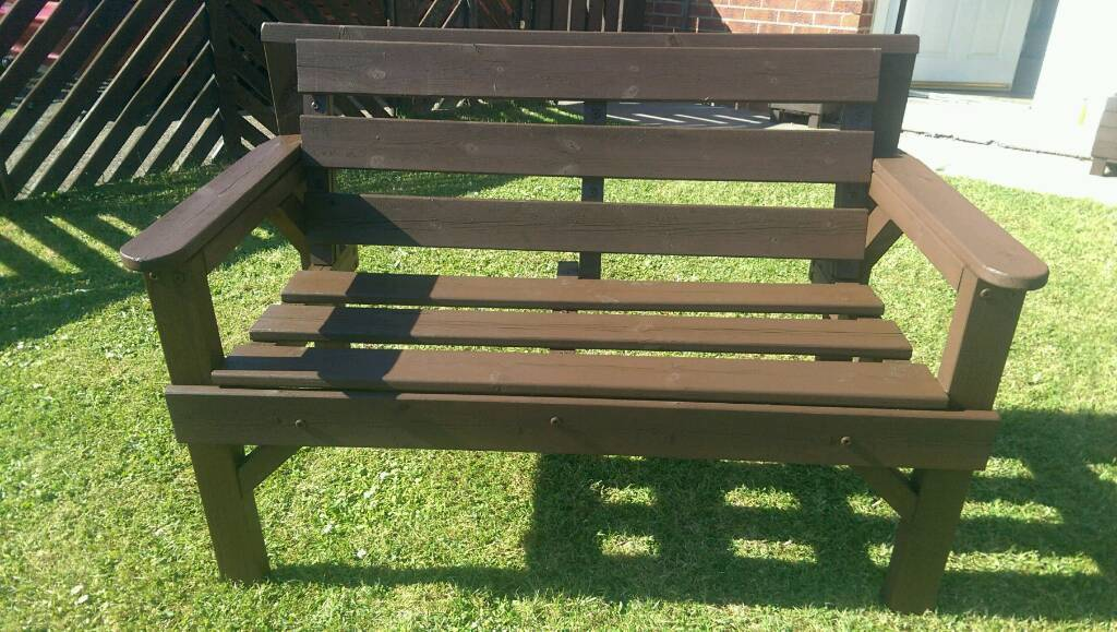 Solid Wood Garden Bench In Seacroft West Yorkshire
