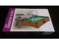 Mini Desktop Pool Table. Brand New in Box