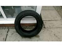 A nearly new run flat winter tyre 205/55/16