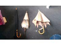 3 beautiful vintage laddies umbrellas