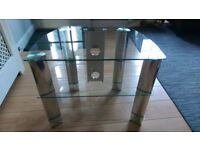 Glass 3 tier TV/home entertainment stand