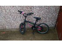 Girl, Child, Apollo BMX bike bicycle. Suitable for child age 4, 5, 6, 7, 8 years