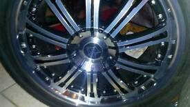 5x130 20 alloy wheels complete with 275x40 20 tyres