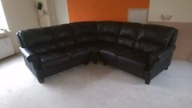 Corner Sofa Leather and Modular
