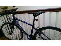 """44.5cm (17.5"""") Trek 7.2 2015 Blue Men's Hybrid Bike"""