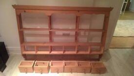 Pine Wall Dresser (6 Draws)