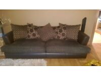 4 and 3 seater suit with swivel chair