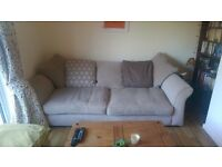 4 seater DFS sofa and matching foot stool
