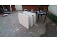 Double Panel Radiators, (2) small, (1) big, Small: (W)800 x (H)600, Big: (W) 1000 x (H) 800