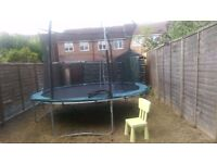16ft Trampoline abit of wear and tear £30 ono, Help dismantling, Need gone by Sunday 31st