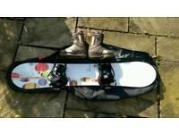 Great Deal. Burton Snowboard, Boots and bag set