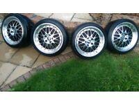 "bbs lm reps 18"" 5x120 bmw alloy wheels"
