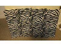 3 Zebra Pattern Wall Hangings