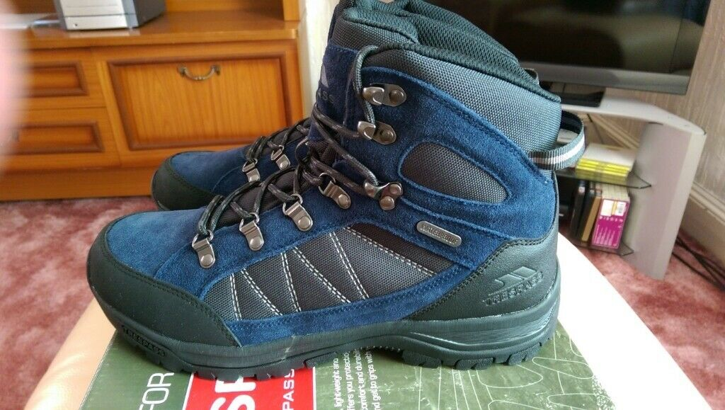 Trespass  Chavez Mens Mid Cut Hiking Boots In Grey /& Brown