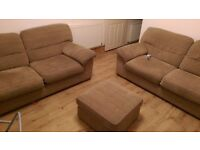 3 pc sofa and foot stool £150