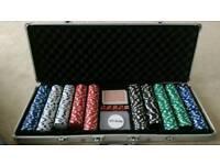 Poker chip set aluminium case