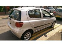 Toyota yaris automatic 5 door hatchback with 52000 mileage.