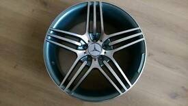 "*NEW* SET OF MERCEDES 18"" TRIPLE SPOKE AMG ALLOY WHEELS 5X112 A B C E R S CLASS CLK CLS SLK CLC"