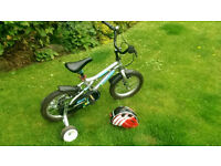"""Childs bike - Dawes Blowfish - 14"""" wheels - Suitable to about 5yo - with helmet & stabilisers"""