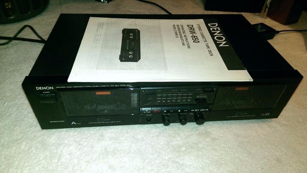 Denon DRW-650 Stereo twin cassette tape deck