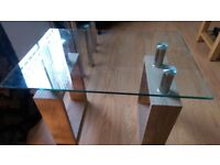 Small glass side table.