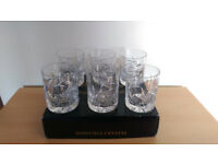 6 x Bohemia Pinwheel Symphony Collection Lead Crystal Whiskey Tumblers