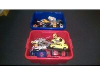 2 Buckets of Car Toys (100+ cars) / Various Scale Sizes / Great Kids Gift / Glasgow / FREE DELIVERY