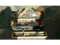 Bundle vintage woodworking tools full box
