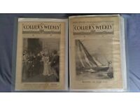 Collier's The National Weekly Newspaper AMAZING COLLECTION 45 newspapaers