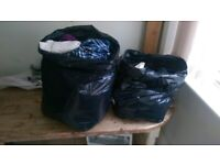 Six Bags of Clothes For Children, Men and Women. COLLECT QUICKLY.