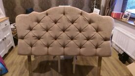 Double button back chenille headboard