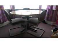 round table and 3 chairs***FREE***